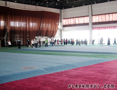 wushu training hall china