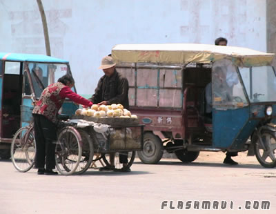 Chinese Fruit Stand - Outside the School